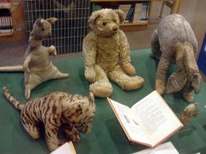 Winnie-the-Pooh and friends, on display at the New York Public Library.