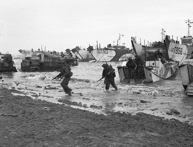 British forces arrive at Gold Beach on D-Day, June 6, 1944.