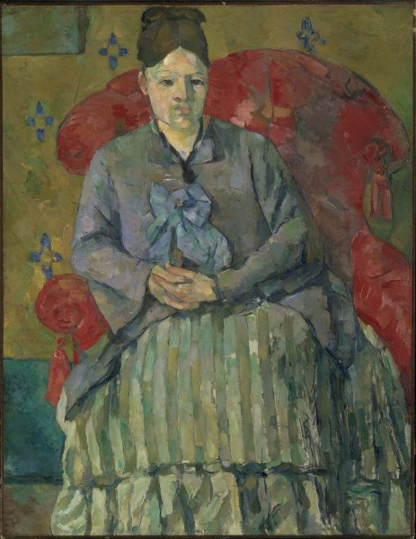 Madame Cézanne in a Red Armchair by Paul Cézanne, 1877. Boston Museum of Fine Arts.