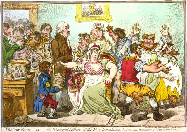 The Cow-Pock by James Gillray
