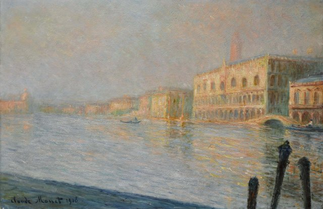 Lot 40 Property from the Collection of Anthony Goldschmidt Claude Monet Le Palais Ducal Signed Claude Monet and dated 1908 (lower left) Oil on canvas 22 ½ by 36 ¼ in. 57 by 92 cm Painted in 1908. Est. $15/20 million Sold for $23,098,000